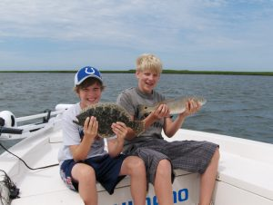 Young Americans enjoying Inshore Fishing